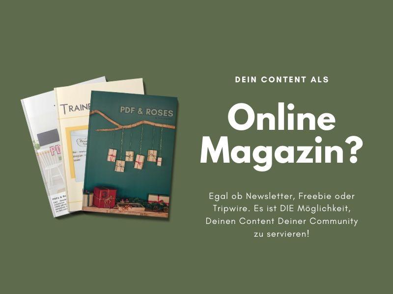 Online Magazin Support für Newsletter, Freebie, tripwire