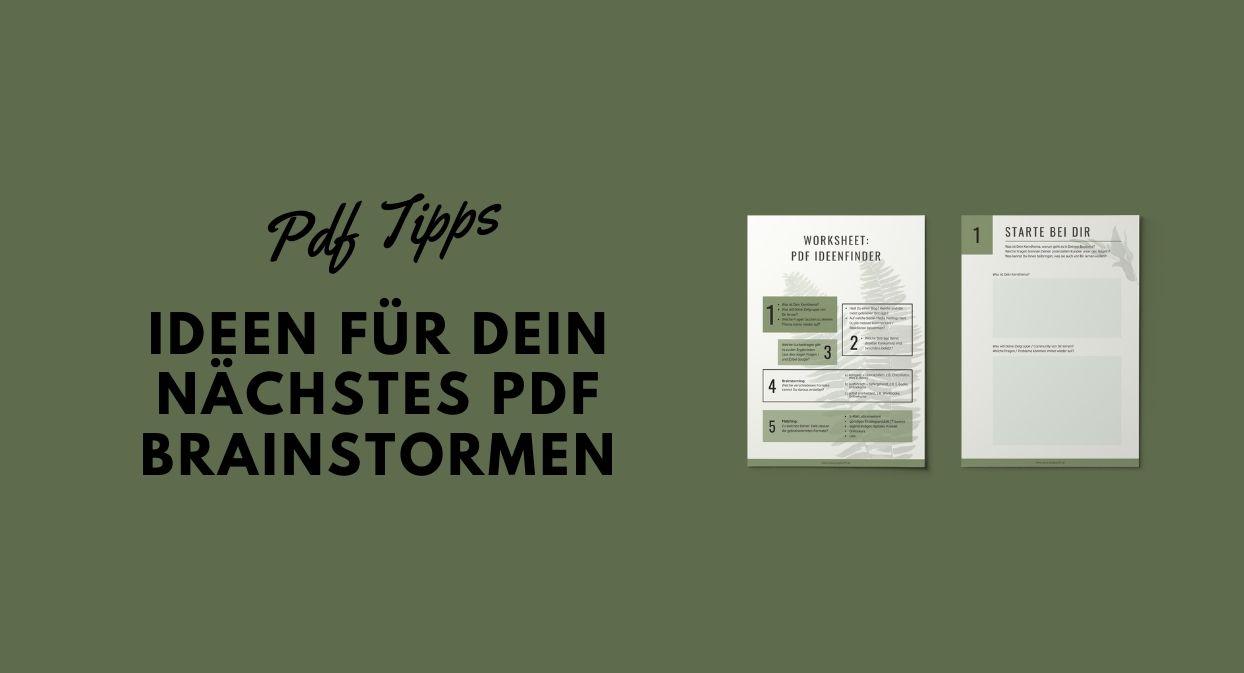 PDF Tipps, finde neue Ideen für Dein nächstes PDF Projekt